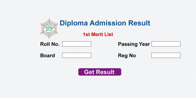 Diploma Engineering Admission Result 2018