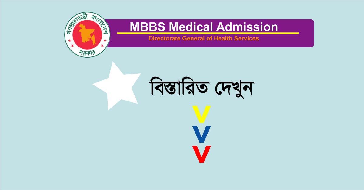 MBBS Medical Admission Circular
