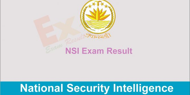 NSI Exam Result 2019 | PM Office Recruitment Result