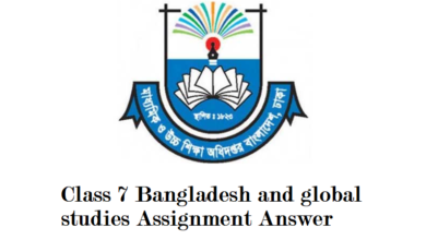 Class 7 Bangladesh and global studies Assignment Answer